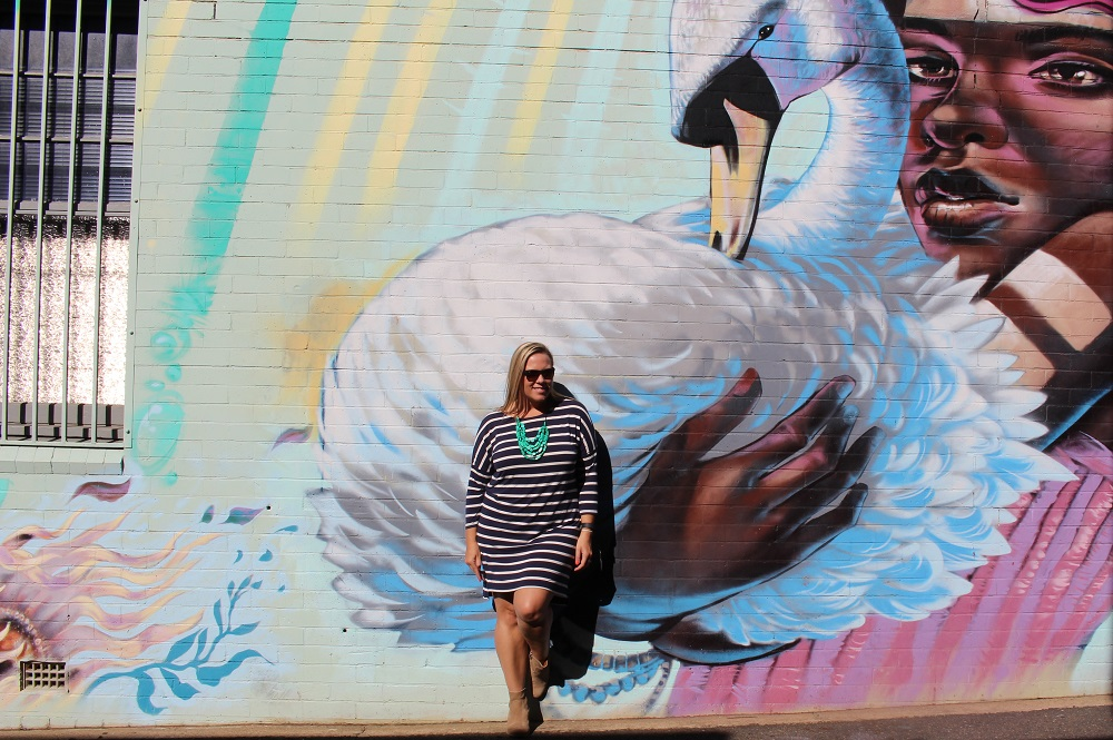 Urban laneway street art murals in Toowoomba, Australia