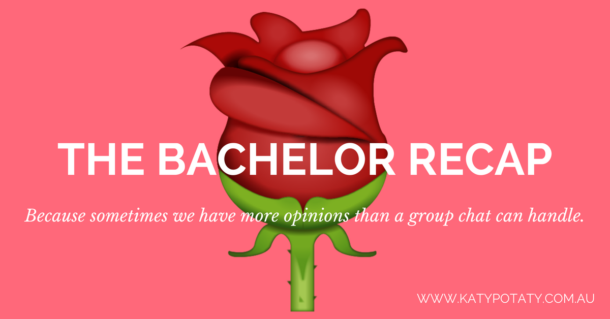 The Bachelor Recap, episode 3 and we're in the Dark Ages -